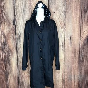 CAPELLI OF NEW YORK LARGE DARK BLUE RAINCOAT